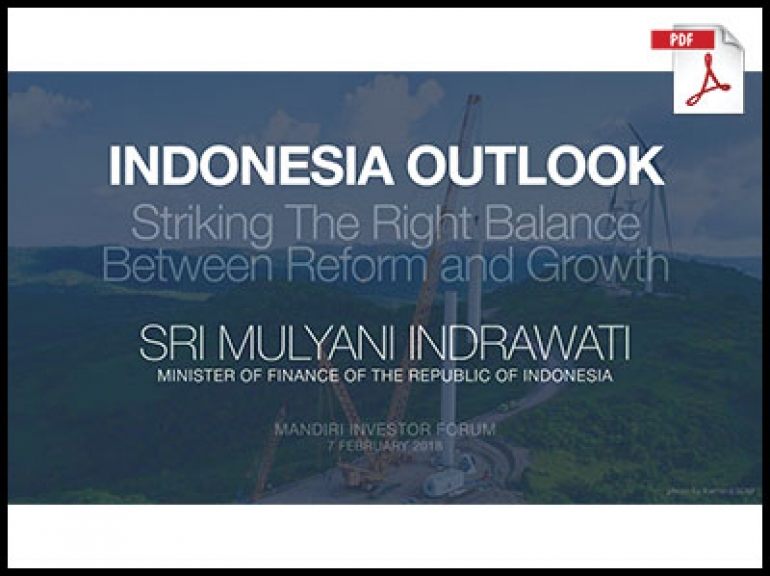 Indonesia Outlook 2018 Sri Mulyani Indrawati (Minister of Finance of The Republic of Indonesia)